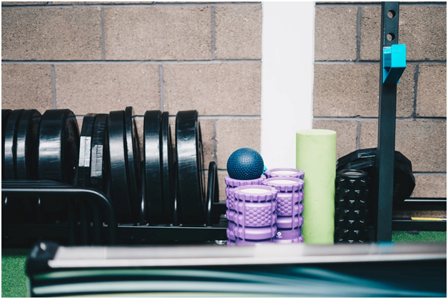 Range of fitness equipment for workout