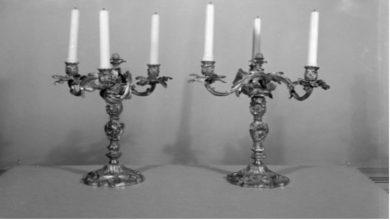 Photo of Enjoy the Celebration of Shabbat Eve with Large Silver Candelabras