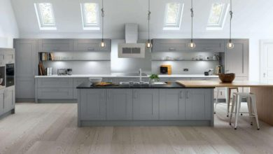 Photo of Which type of worktops suit best with grey kitchen units?
